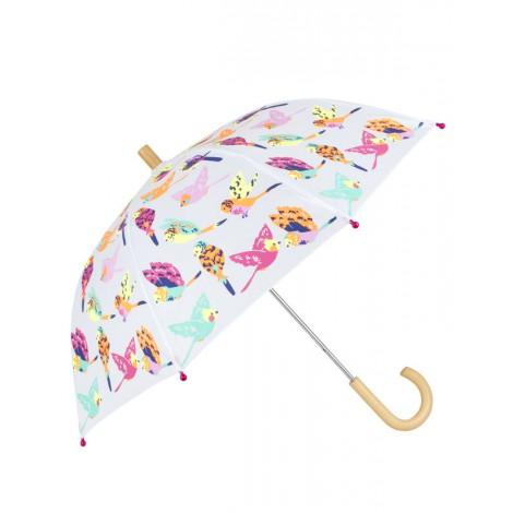 Paraguas infantil niña blanca TROPICAL BIRDS