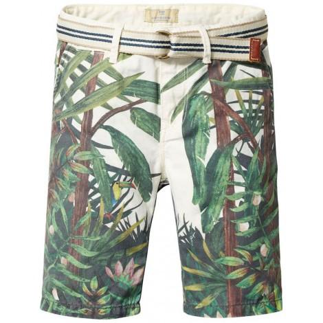 Pantalones shorts niño de loneta estampado TROPICAL