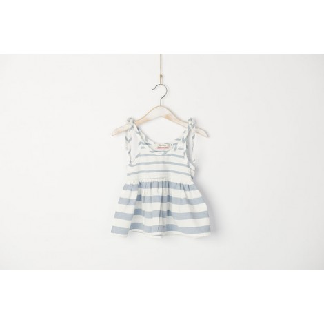 Vestido Tirantes bebé rayas azul mediterranean style