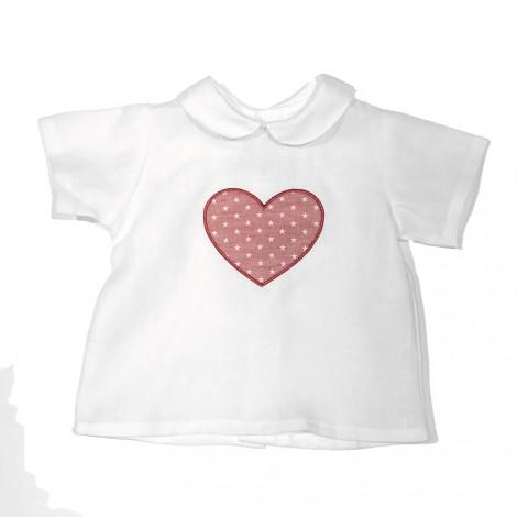 Camisa bebé blanca BABY CORAZÓN rojo