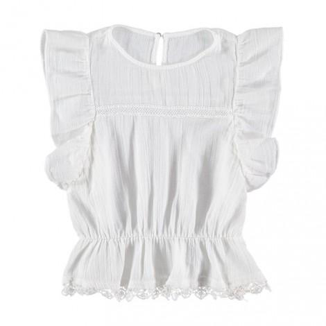Camisa niña CELINE BLOUSE algodón en color crudo