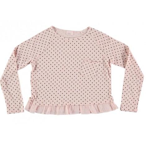 Camiseta niña BEATRIZ STARS rosa palo m/l