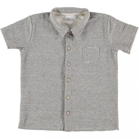 Camiseta niño DAVID rayas gris con botones