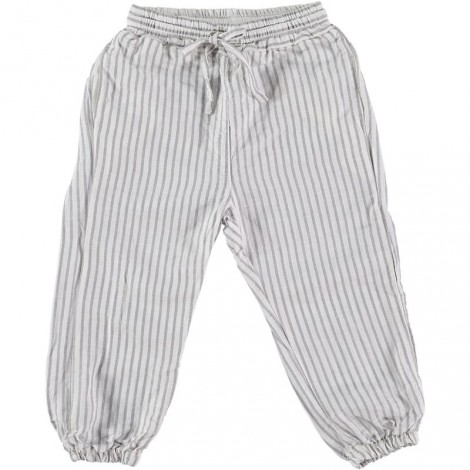 Pantalón niño bombacho WILLY STRIPES rayas lino crudo