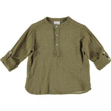 "Camisa mao oliva niño PAUL ""CHECK"" cuadradillos"