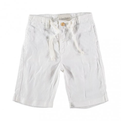 Pantalón bermuda infantil MARCO lino crudo