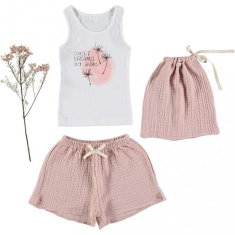 "Pijama niña ""SWEET DREAMS"" rosa palo"