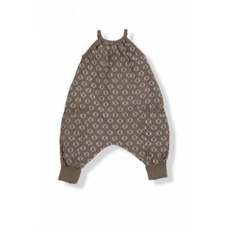 Pantalón mono bebé bordado plummeti ALLEGRA caqui