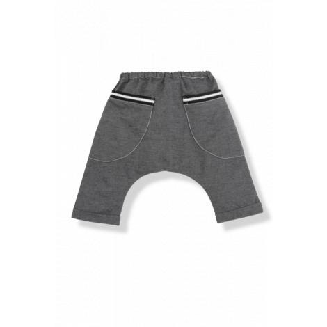 Pantalón ancho bebé BERTRAN algodón antracita