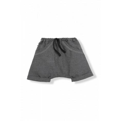 Pantalón bermuda bebé ELOI algodón antracita