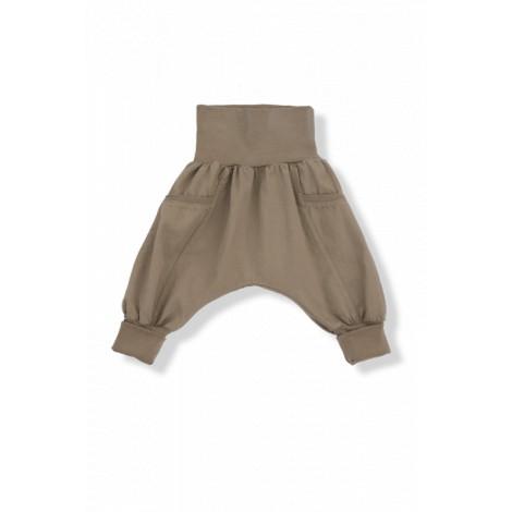 Pantalón ancho FABIO sarga algodón caqui