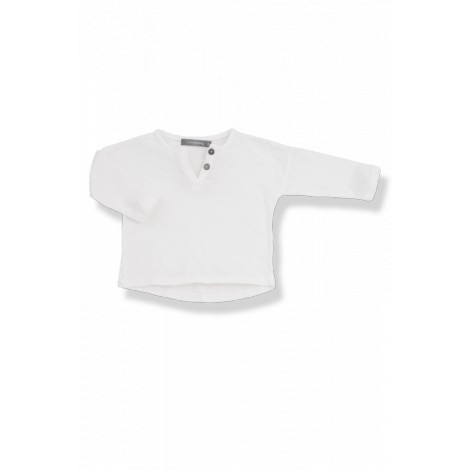 Camiseta bebé botones m/l FILIPPO vigoré white