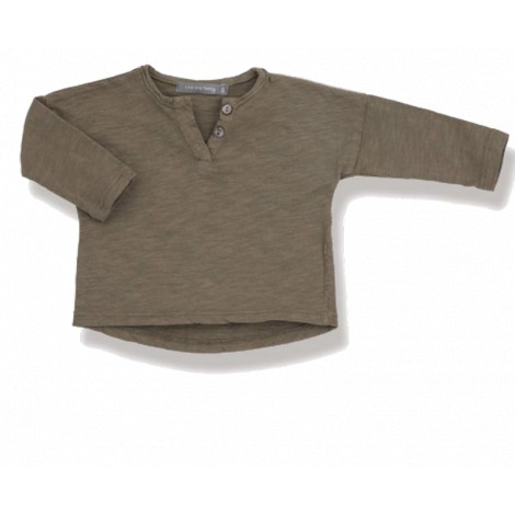 Camiseta bebé botones m/l FILIPPO vigoré caqui