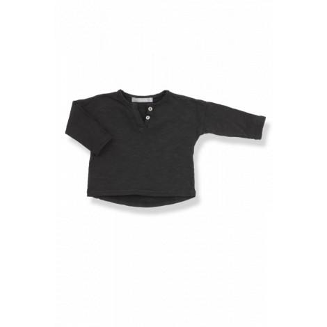Camiseta bebé botones m/l FILIPPO vigoré negra
