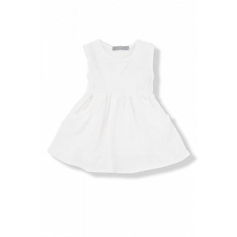 Vestido bebé sin mangas ISAURA vigoré blanco