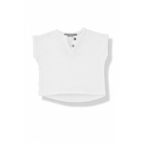 Camiseta bebé botones m/c JAN vigoré blanca