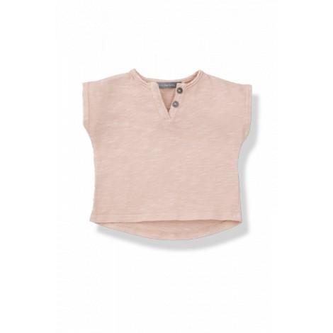 Camiseta bebé botones m/c JAN vigoré ibiscus