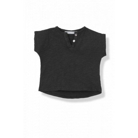 camiseta bebé botones m c jan vigoré negra