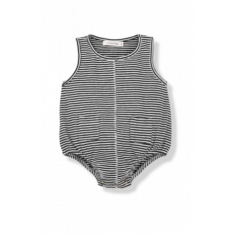 Mono bebé sin mangas LORENZO rayas negro