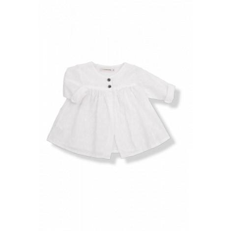 Chaqueta verano bebé bordado LUCIA blanca