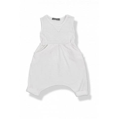 Pantalón mono bebé sin mangas MARCO vigoré blanco