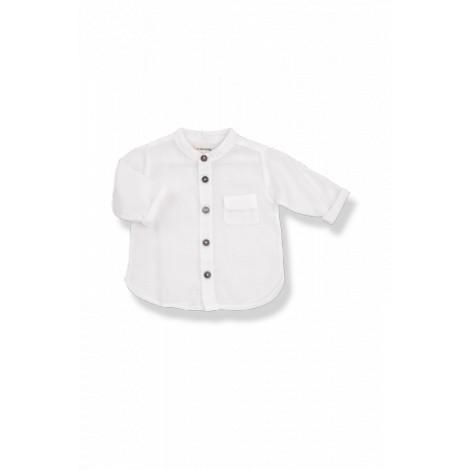Camisa bebé batista mao MAURI blanca