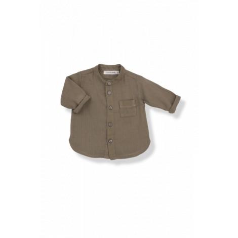Camisa bebé batista mao MAURI caqui