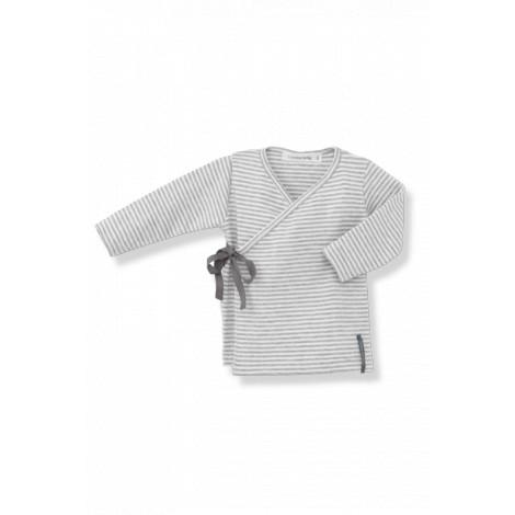 Camiseta jubón primera puesta MOISES blanco/gris lazo