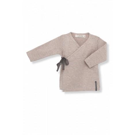Camiseta jubón primera puesta MOISES rayas ibiscus lazo