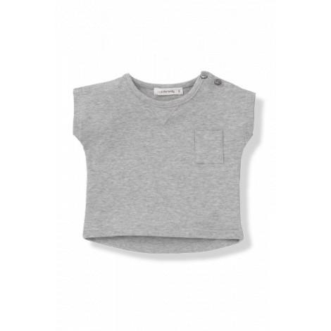 Camiseta bebé manga corta NACHO gris