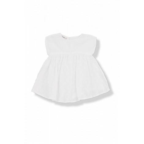 Vestido bebé bordado plummeti PAOLA blanco