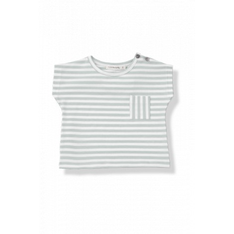 Camiseta bebé bolsillo m/c ROB raya ancha agua