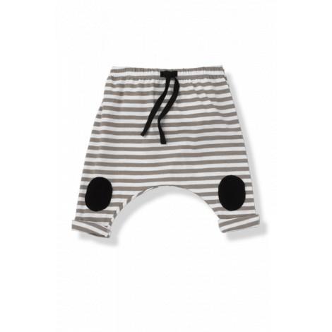 Pantalón bebé ancho rodillera SAMMY rayas caqui