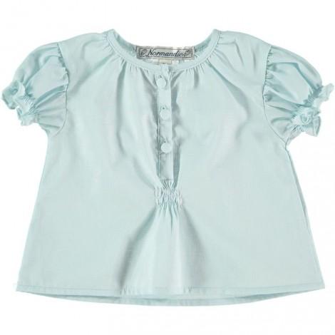 CAMISA MOON de bebé Azul suave
