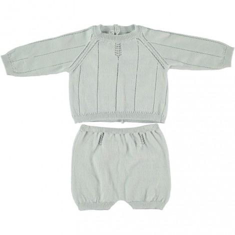 conjunto jersey y ranita de bebé azul suave