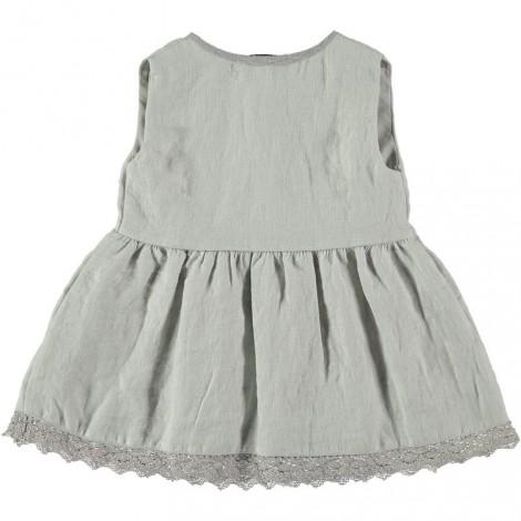 vestido de bebé gris