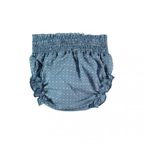 BRAGUITA SMOCK de bebé Azul geométrico