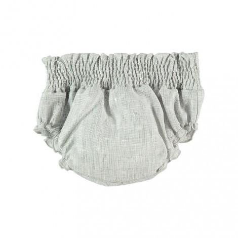 BRAGUITA SMOCK de bebé Cuadrillero gris