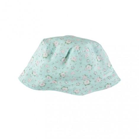 GORRO VERANO de bebé Estampado floral azul suave