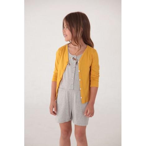 chaqueta algodón orgánico niña en amarillo