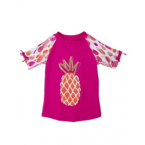 Camiseta de agua niña LYCRA M/C TROPICAL PINEAPPLES