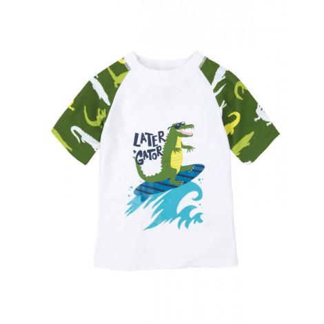Camiseta de agua niño LYCRA M/C ALLIGATOR blanca