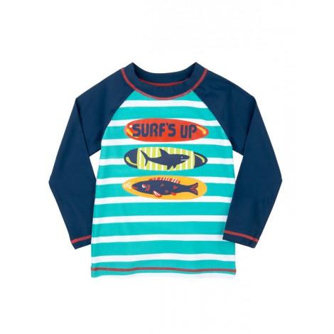Camiseta de agua niño LYCRA M/L SURFBOARDS azul
