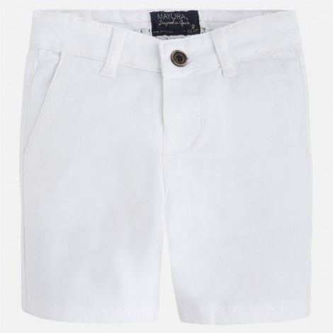 Bermuda chino sarga de niño color Blanco