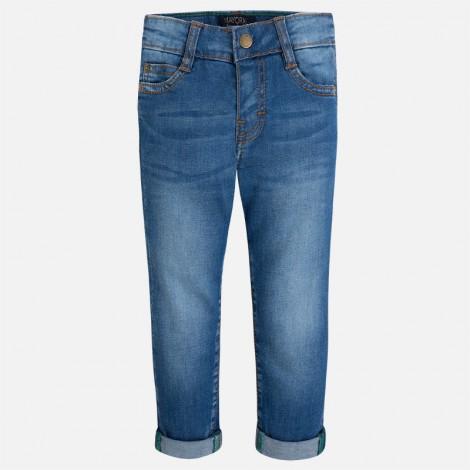 Pantalón tejano niño slim fit básico color Básico