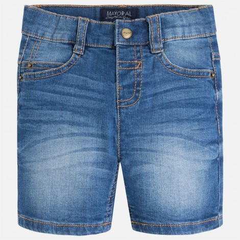 Pantalón corto niño estilo tejano color Básico
