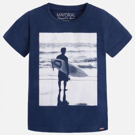camiseta niño m c surfer color azul