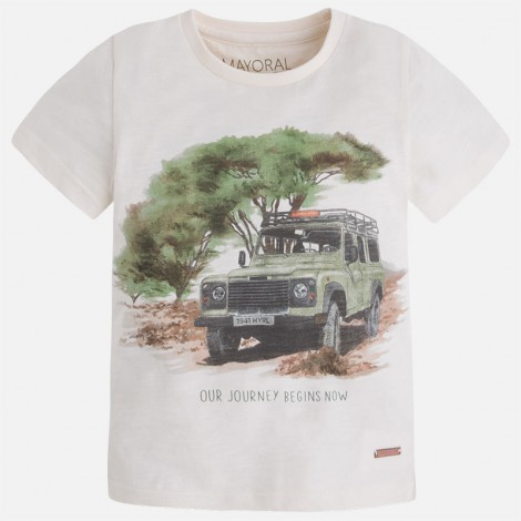 Camiseta niño m/c jeep color Cream