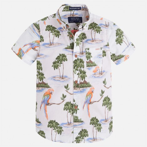 Camisa niño doble con camiseta m/c color Teja vig