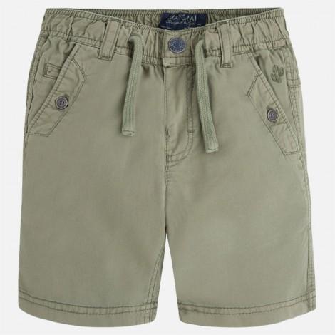 Pantalón corto niño sarga fina fantasía color Khaki